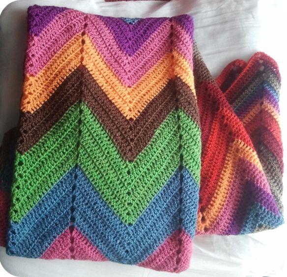 "crochet blanket ""South West"" / mantasdeganchillo.wordpress.com"