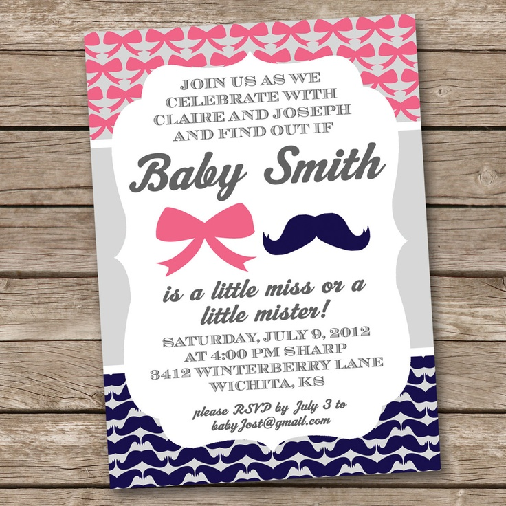 29 best Beau or Bows | Gender Reveal Party images on Pinterest ...