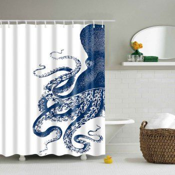 waterproof octopus printed polyester shower curtain cheap bathroom accessoriesaccessories