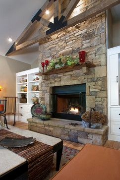 Bookshelves Fireplace Design, Pictures, Remodel, Decor and Ideas - page 33