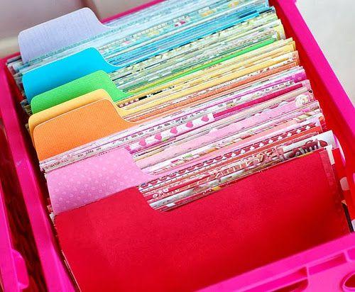 Friday Inspiration: Scrapbook Paper Storage!
