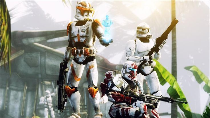 Clone Troopers - Look, it is Sev in the middle!