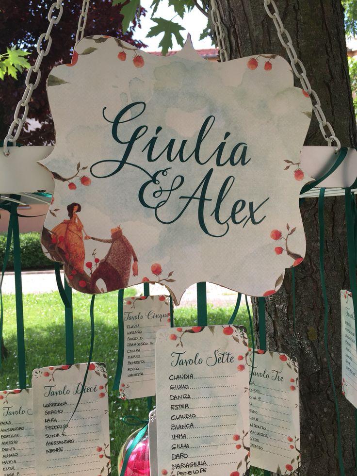 Il tableau de mariage racconta una storia romantica... #wedding#tableau#peperosadesign#sweet#labellaelabestia