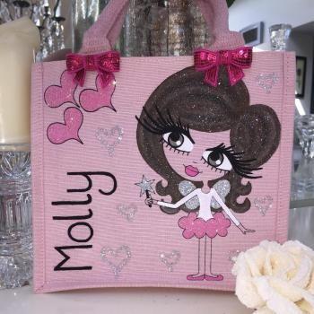 HunniBunni Molly Little Miss Fairy Personalised Mini Juco Bag