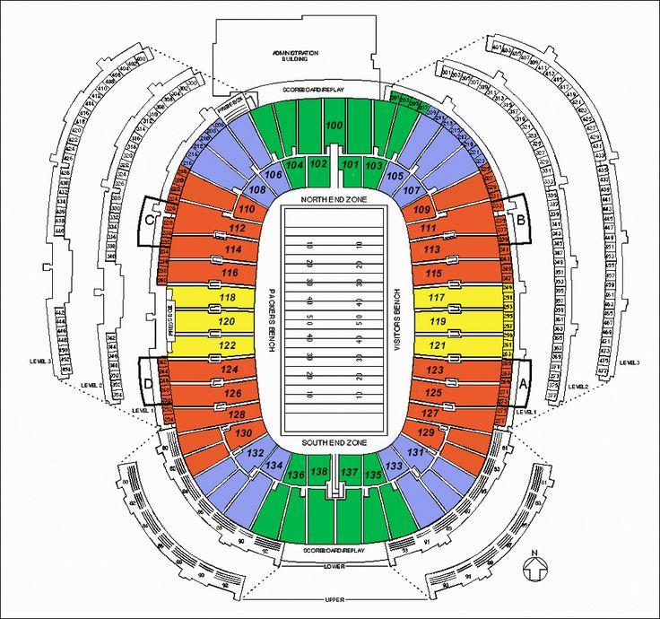 Lambeau stadium seating lambeau field green bay tickets