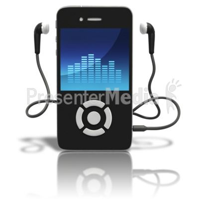 Music Player Standing Upright PowerPoint Clip Art