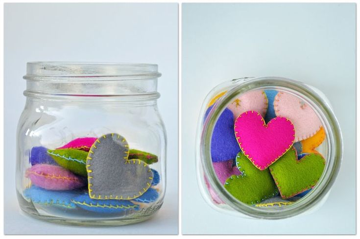 Pocket hearts to ease separation anxiety: Idea, Start Schools, Sweet, Jars Of Heart, Pockets Heart, Lunches Boxes, Felt Heart, Crafts, Kid