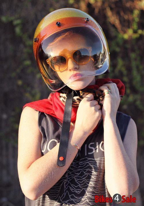 Half Face Helmet Girl