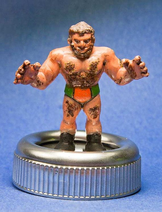 Custom Hand Painted MUSCLE Figure Hairy Wrestling by Stinkycrayons