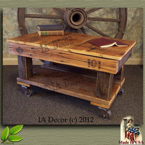 Best 25 Coffee table with wheels ideas on Pinterest Industrial