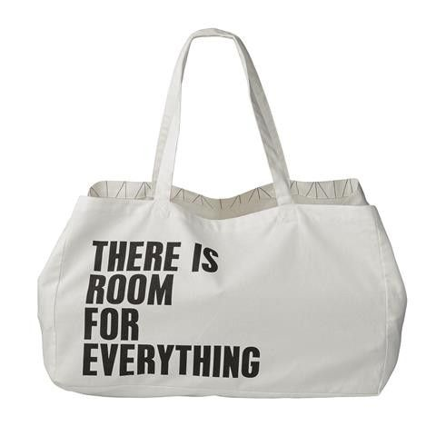 'THERE IS ROOM FOR EVERYTHING' CANVAS BEACH/STORAGE BAG – THE HOUSE JAR