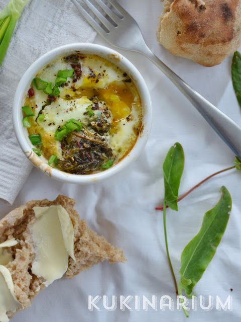 Kukinarium: Jajka w kokilkach z sosem szczawiowym