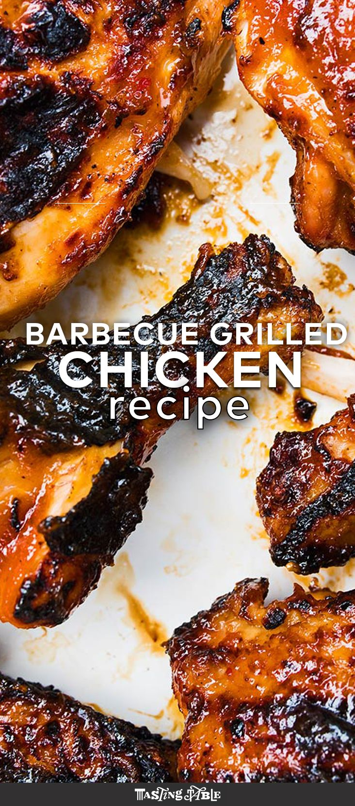 Marinating and glazing the bird in homemade BBQ sauce is the key to this grilled chicken.