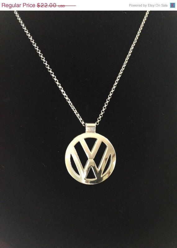 On Sale Volkswagen Pendant VW Emblem Nickel by ColorsoftheSeasons