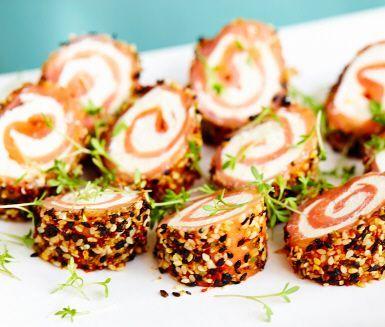 Laxrullar med wasabi sesame