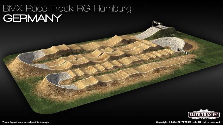 Der neue Race Track in Hamburg für die Deutsche BMX-Race Meisterschaft 2017 !!!   Weitere Infos auch auf: http://dm2017.bmx-racer.com/