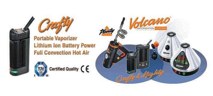 Volcano Vaporizers , Mighty Vaporizer, Crafty & Plenty Vaporizer