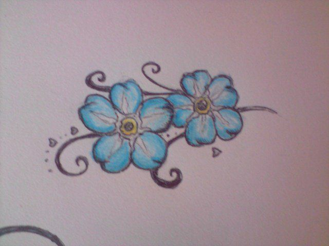 Forget-Me-Not Flower Tattoo *One flower for every child*