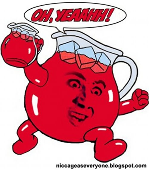 Forget the nigel thornberry meme it 39 s all about nick cage for Kool aid man coloring pages