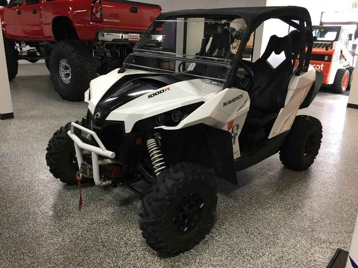Used 2014 Can-Am MAVERICK 1000R ATVs For Sale in Minnesota. 763-780-1010 *** BLAINE LOCATION *** Hitch, Soft Top, Windshield, Pyle 300W Speakers, Kenwood Bluetooth, 4,500lb Winch, Black Alloy Wheels, Blue Halo Headlamps.