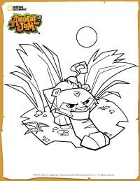 Animal Jam Tiger Coloring Page