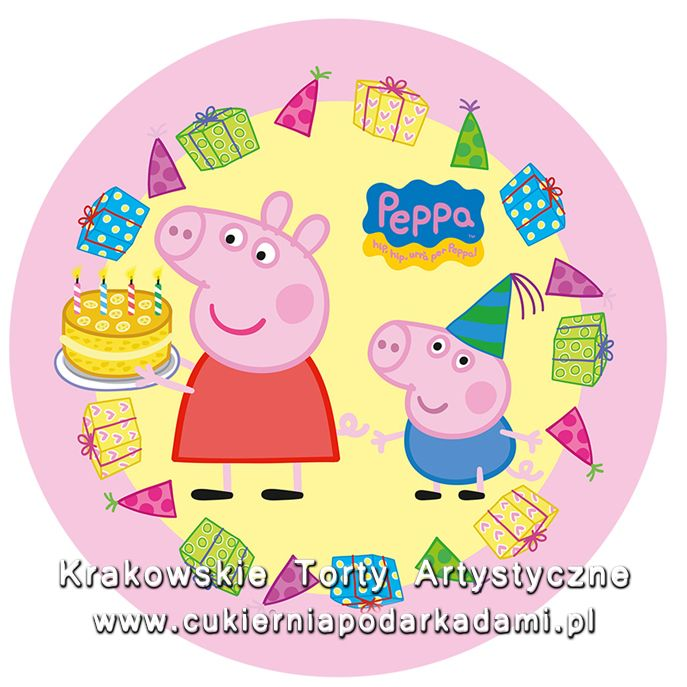 096. Fototort ze świnką Peppą. Peppa the pig photocake.