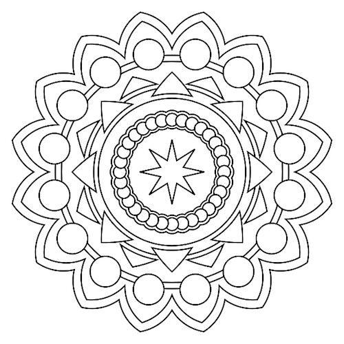 print mandala coloring pages - Art Therapy Coloring Pages Mandala