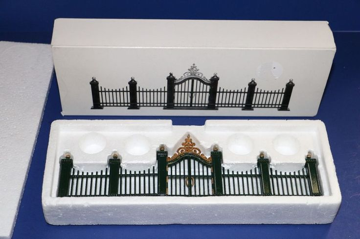 Dept. 56 Heritage Village Village Wrought Iron Gate and Fence 9 Piece Set #55140 #babescollectibles