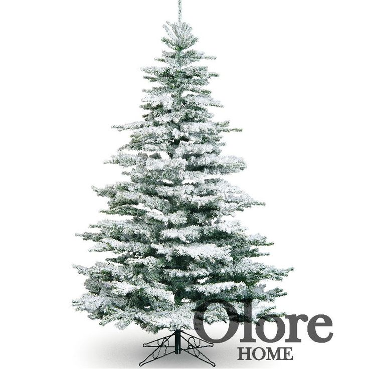 7ft Frosted Christmas Tree - Flocked Noble Pine - Artificial Christmas Tree