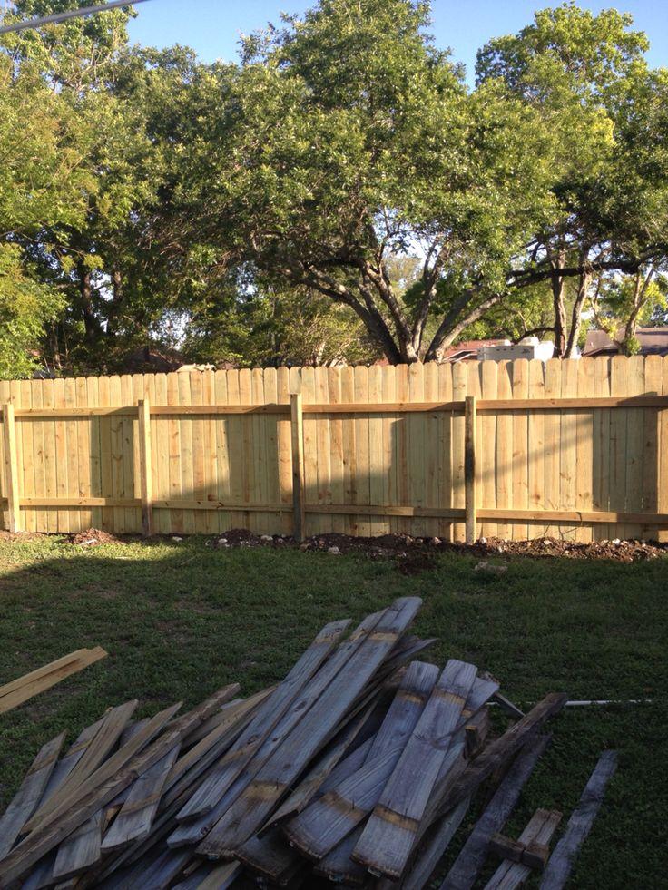 Completed fence rebuild