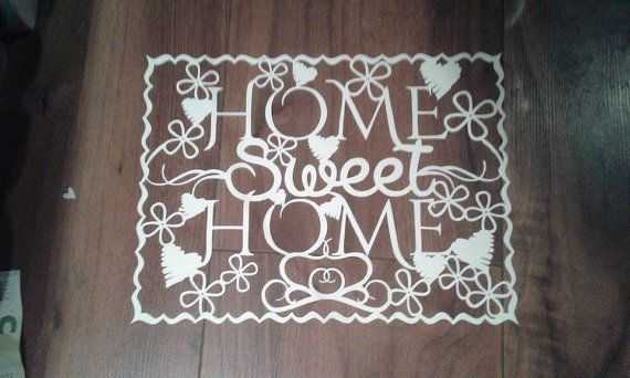 Home Sweet Home Papercutting Template Commercial by JustAnotherTee