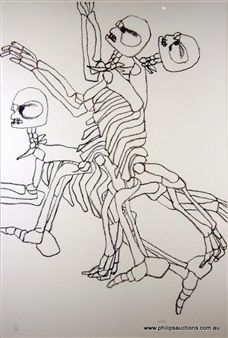 Convict Skeletons from for the Term of his Natural Life Series By Sidney Nolan