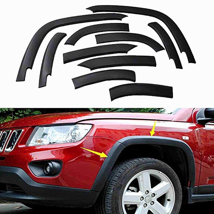 10 Pcs Wheels Fender Flares Cover Protector Molding For Jeep Compass 2011 2012 2013 2014 2015 2016