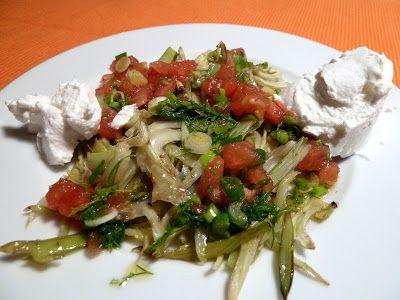 Gerösteter Fenchelsalat mit Frischkäse