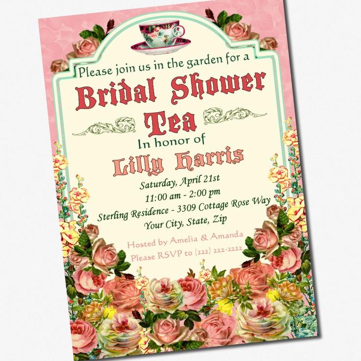 15 best images about Vintage Tea Party Bridal Shower – Bridal Shower Tea Party Invitation