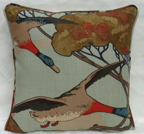 Mulberry Fabric ~ Flying Ducks Can't explain why I like this one so much. Saw it in English Home mag and can't forget it.