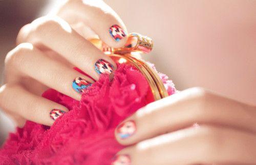 : Nail Polish, Nailart, Style, Ikat Nails, Makeup, Manicure, Diy Beauty, Hair, Nail Art