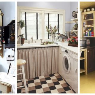 Make doing laundry more enjoyable with our ideas for sprucing up your laundry room.