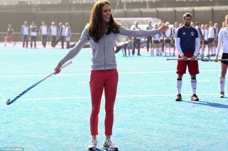 The Duchess of Cambridge made a private visit to the Olympic Park in Stratford March 15, 2012 to meet the Team GB women's hockey squad. She asked to meet them in her role as Team GB and Paralympics GB 2012 Ambassador because of her love for the sport. Kate has played since junior school and was captain of the 1st 11 at Marlborough College.