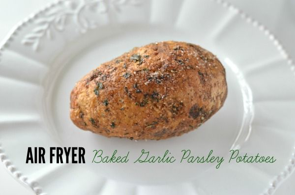 delicious baked potatoes recipe with garlic and parsley in under 30 minutes