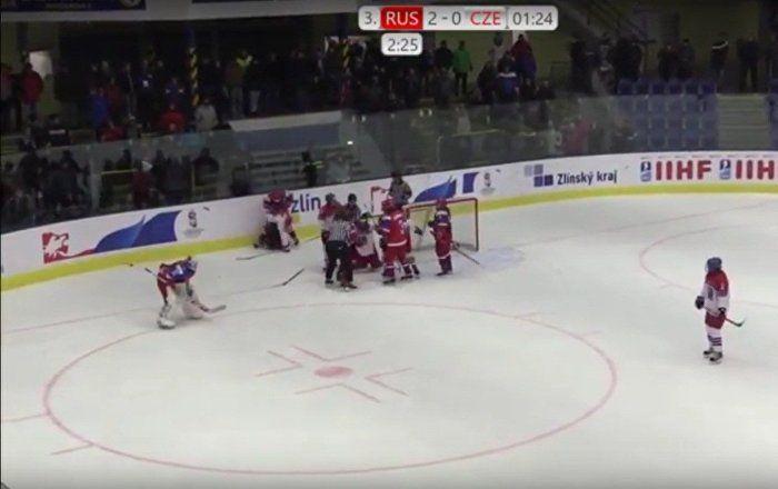 Sputnik Türkiye ///  Rusya ile Çekya arasındaki buz hokeyi maçında kavga
