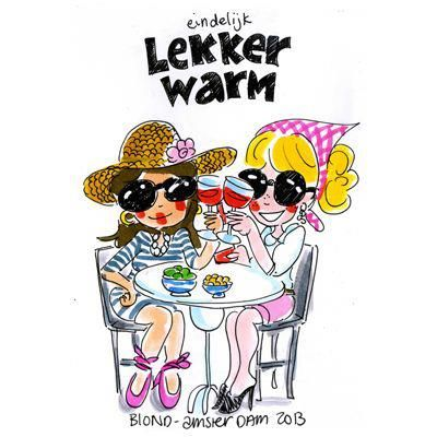 Eindelijk lekker warm - Blond Amsterdam