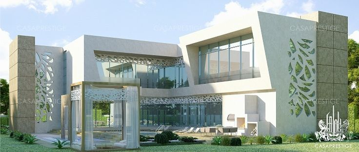 Modern palace exterior design dubai villa pinterest for Palace design homes