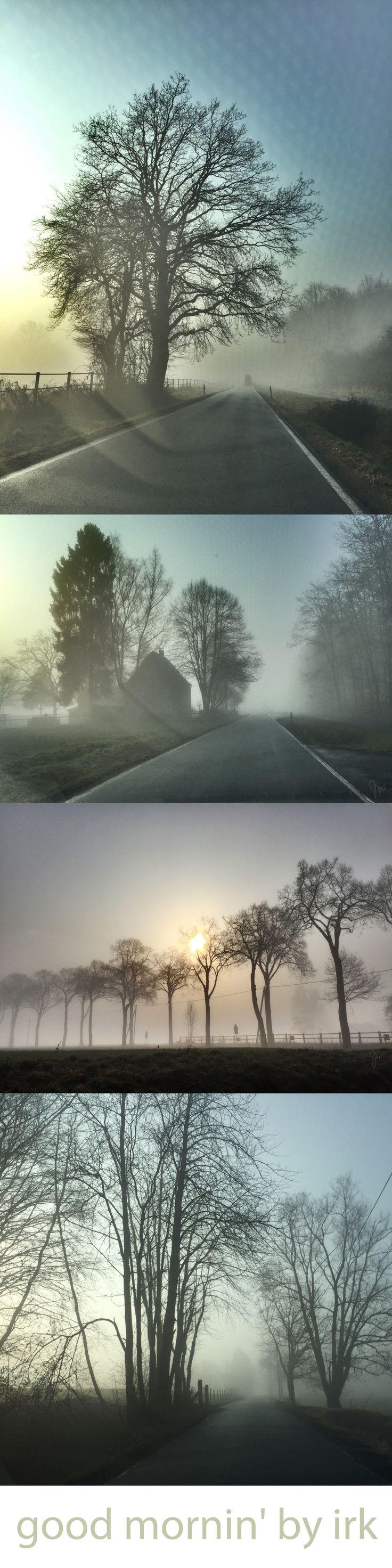 foggy morning - Guten Morgen Fotos Landschaft mit Nebel - Good morning photos fog landscape - by irk germany / smartphone photography