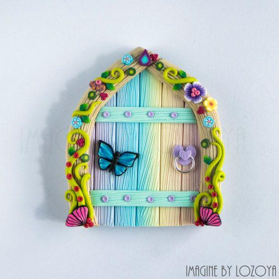 Rainbow Fairy Door Model Camelia // Puerta de hada arcoiris Modelo Camelia