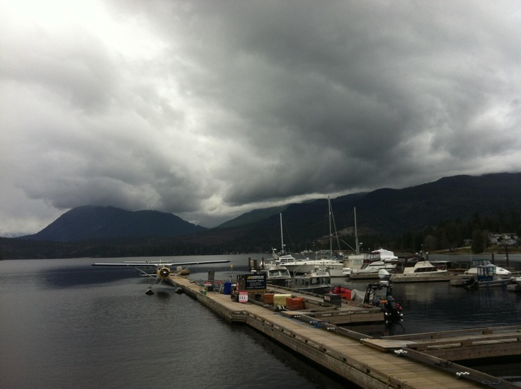 View from the Lighthouse Pub today in Sechelt