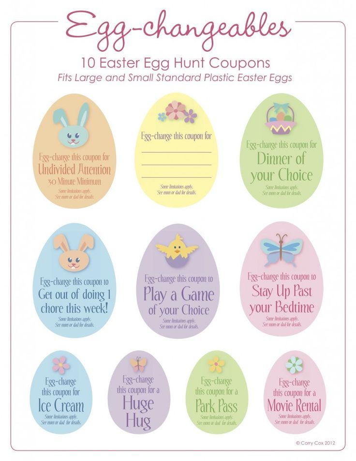 Easter Egg Fillers Free Printables Cute As You Please