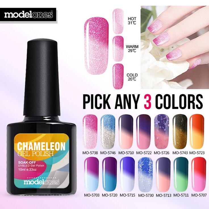 Modelones 3pcs/lot UV Led Nails Gel Easy 10ml Permanent Gel Varnishes Gelpolish Nail Choose 3pcs Soak Off Gel Nail Polish UV Gel