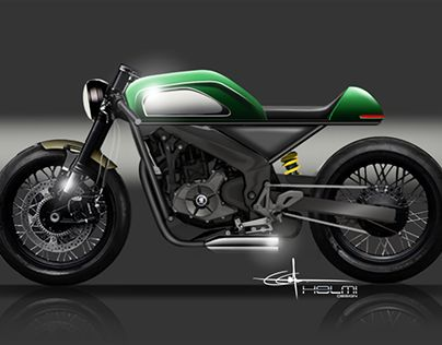 """Check out new work on my @Behance portfolio: """"NS200 Cafe Racer"""" http://be.net/gallery/64011139/NS200-Cafe-Racer"""