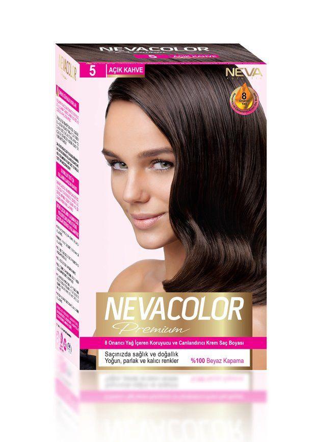 Nevacolor Premium Sac Boyasi 5 Acik Kahve Sac Sac Boyasi Yag